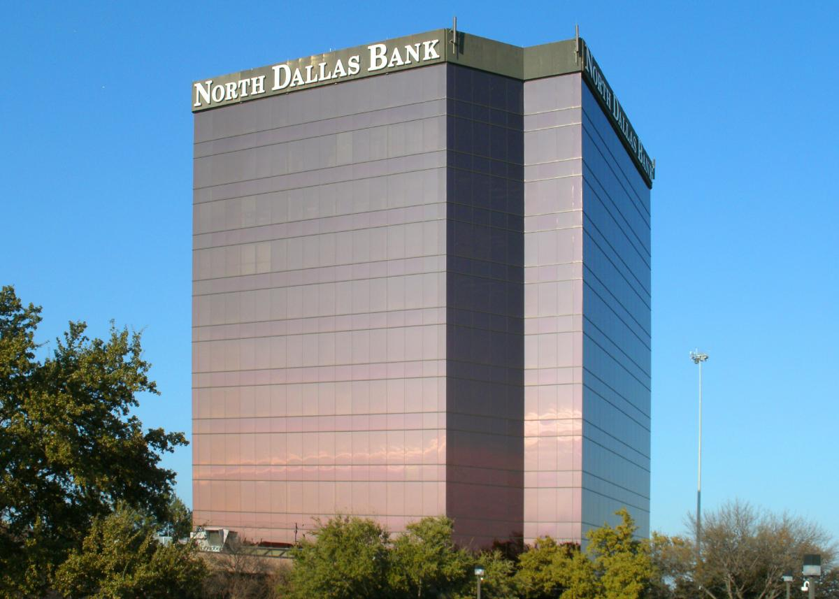 Located at North Dallas Bank